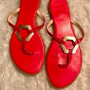 Calvin Kline Red Sandals